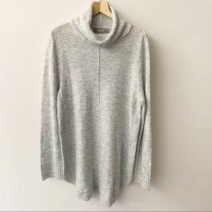 Marled Heather Gray Turtleneck Sweater Sz XL